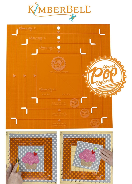 KIMBERBELL DESIGNS Orange Pop Rulers, Square Set