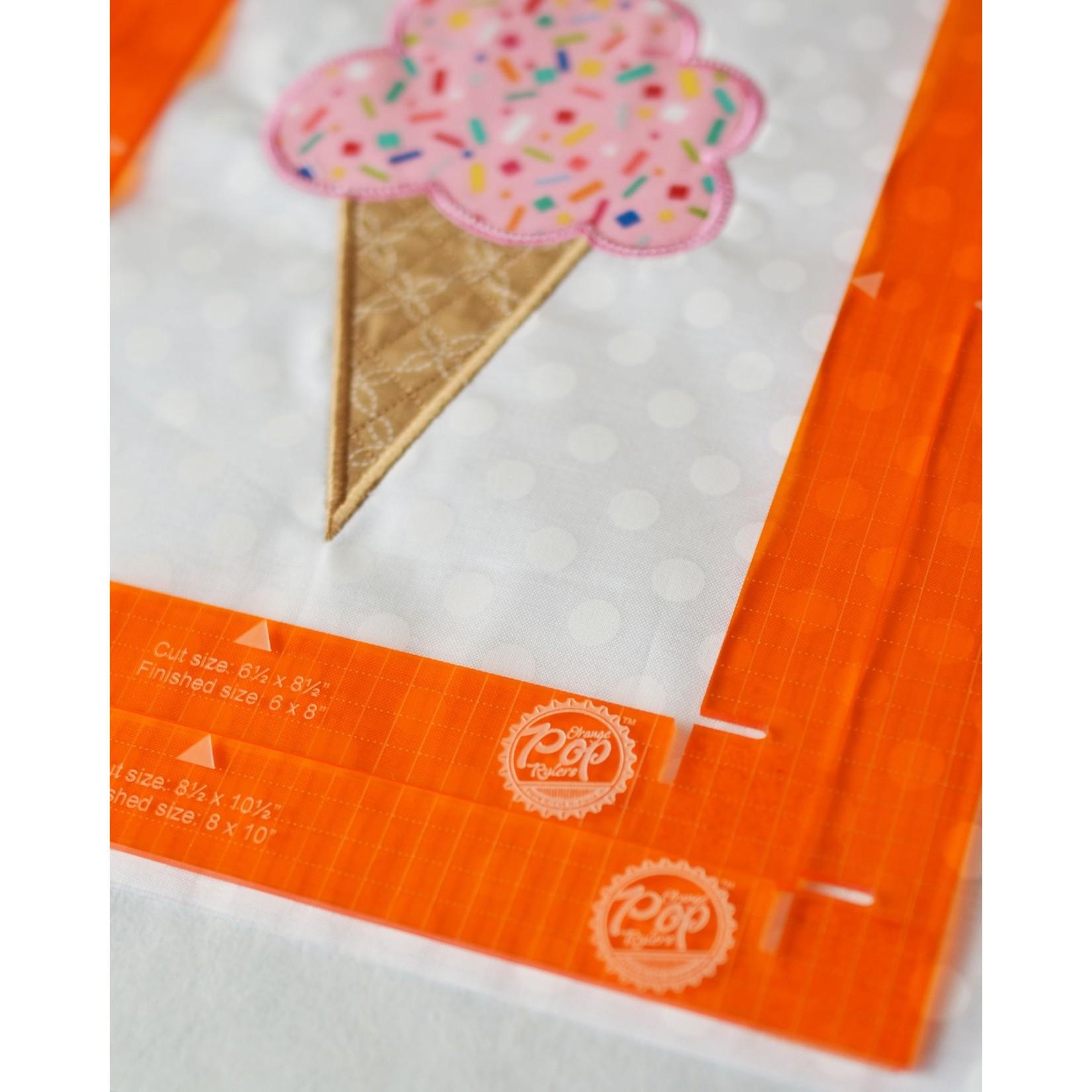 Kimberbell Designs Orange Pop Rulers, Rectangle Set