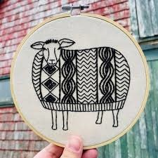 Hook Line and Tinker Sweater Weather Complete Embroidery Kit