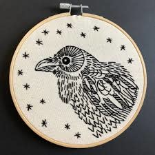 Hook Line and Tinker Nevermore Complete Embroidery Kit
