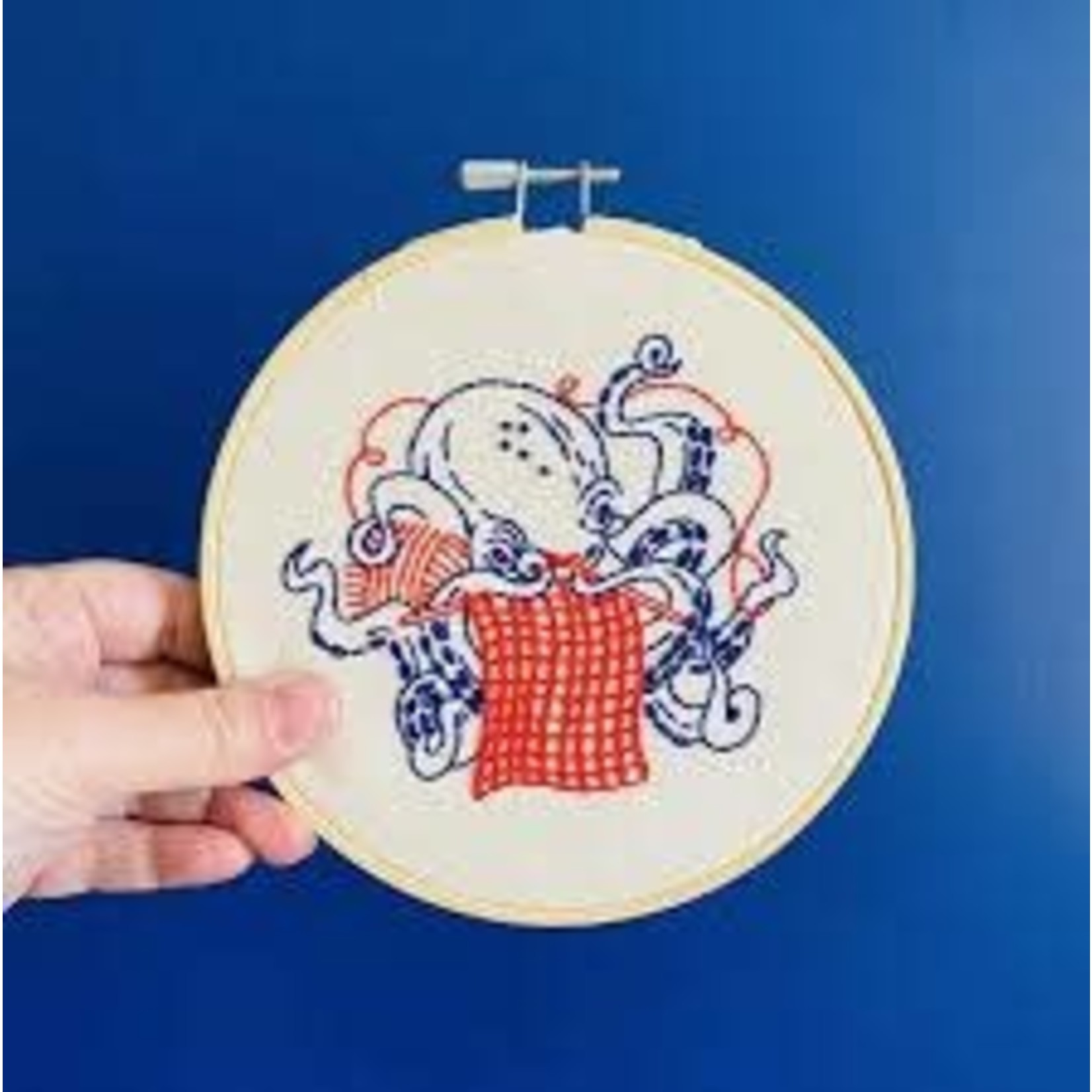 Hook Line and Tinker Industrious Octopus Complete Embroidery Kit
