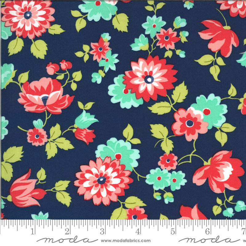 BONNIE & CAMILLE Shine On by Bonnie & Camille, BLOSSOM, NAVY 55211-17 PER CM OR