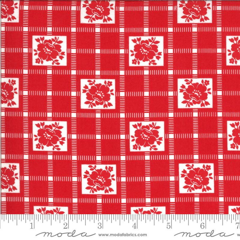 BONNIE & CAMILLE Shine On by Bonnie & Camille, CHECK, RED 55212-11 PER CM OR
