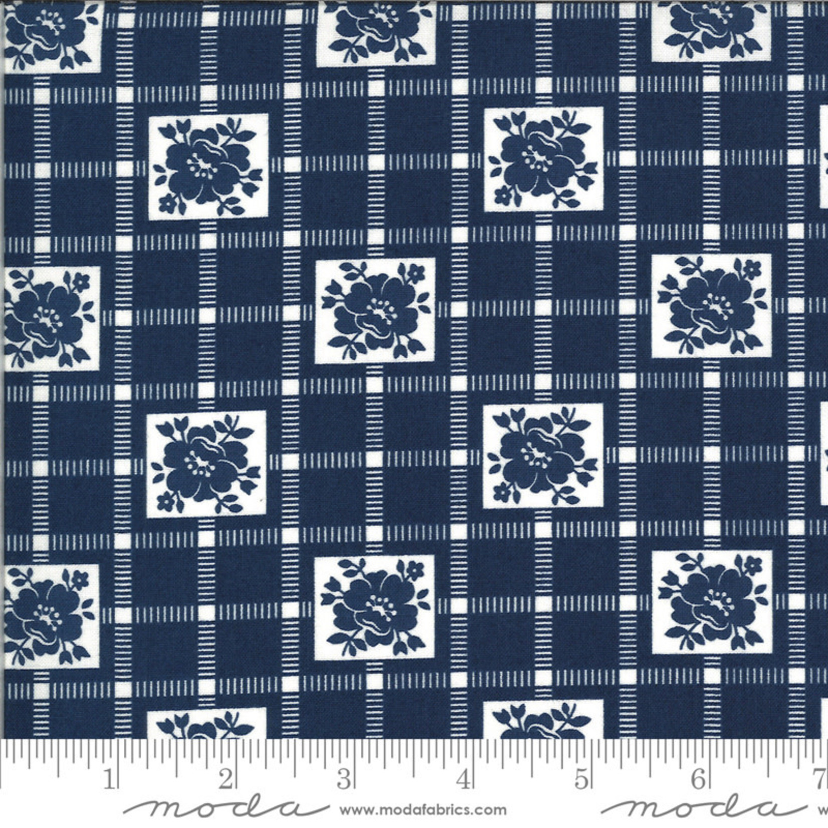 BONNIE & CAMILLE Shine On by Bonnie & Camille, CHECK, NAVY 55212-17 PER CM OR