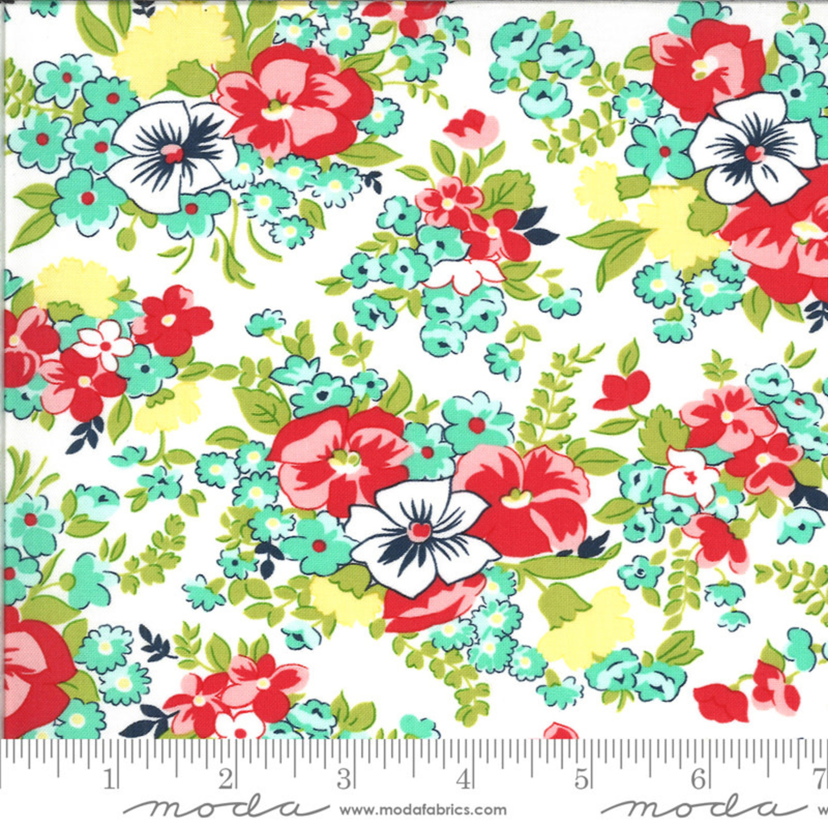 BONNIE & CAMILLE Shine On by Bonnie & Camille, MEADOW, WHITE 55213-20 PER CM OR