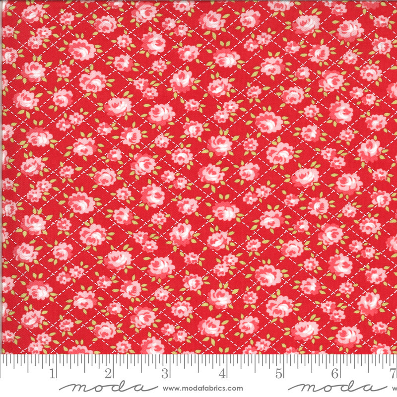 BONNIE & CAMILLE Shine On by Bonnie & Camille, ROSES, RED 55214-11 PER CM OR