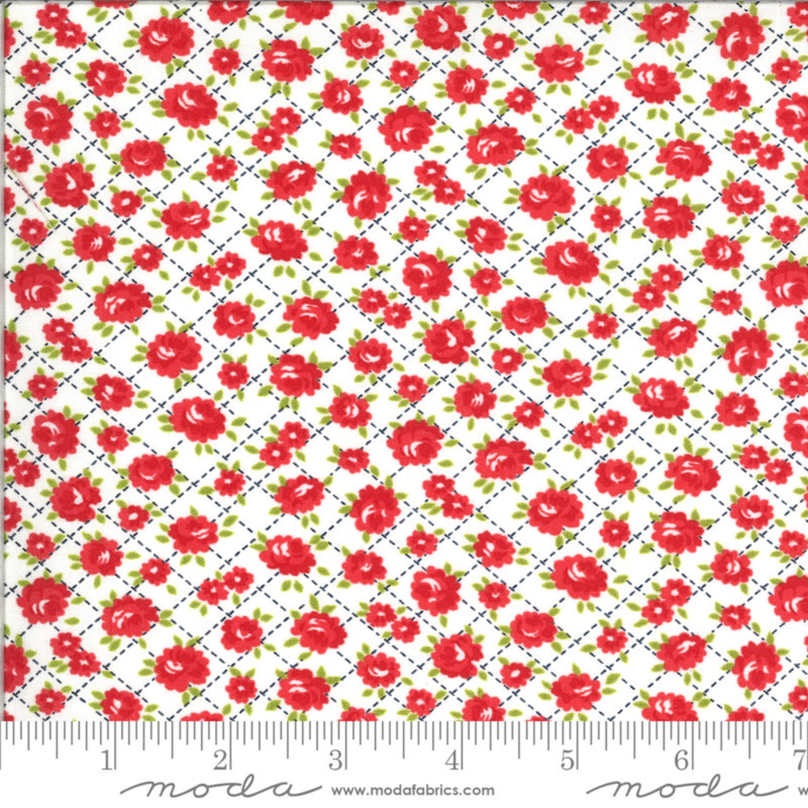 BONNIE & CAMILLE Shine On by Bonnie & Camille, ROSES, WHITE 55214-20 PER CM OR