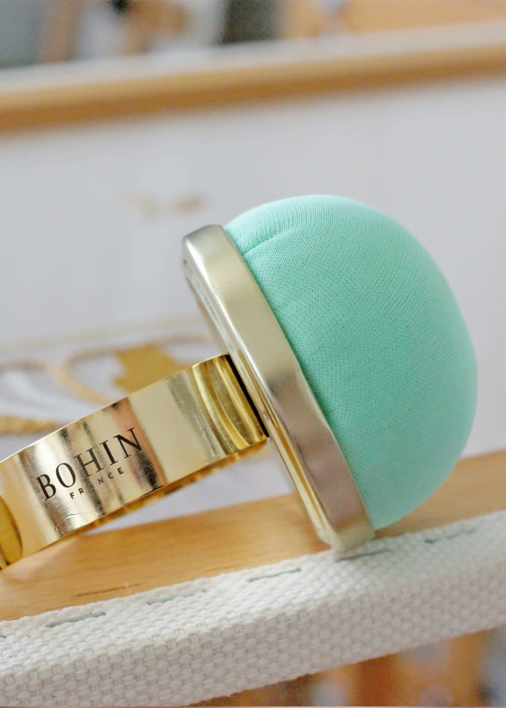 BOHIN Pin Cushion with Gilt Bracelet
