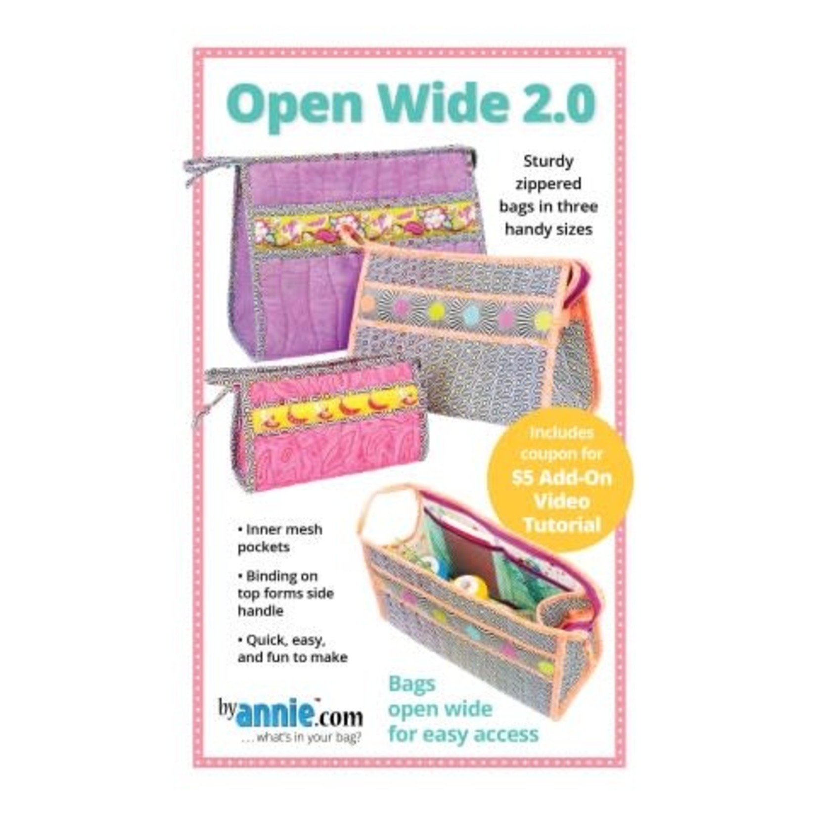 BY ANNIE OPEN WIDE  PATTERN AND KIT