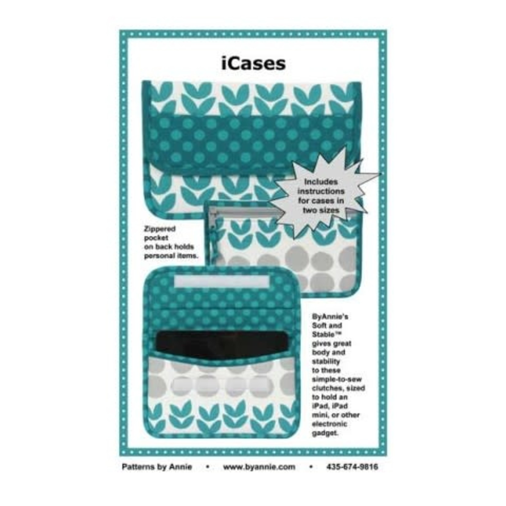 By Annie ICASES  PATTERN AND KIT