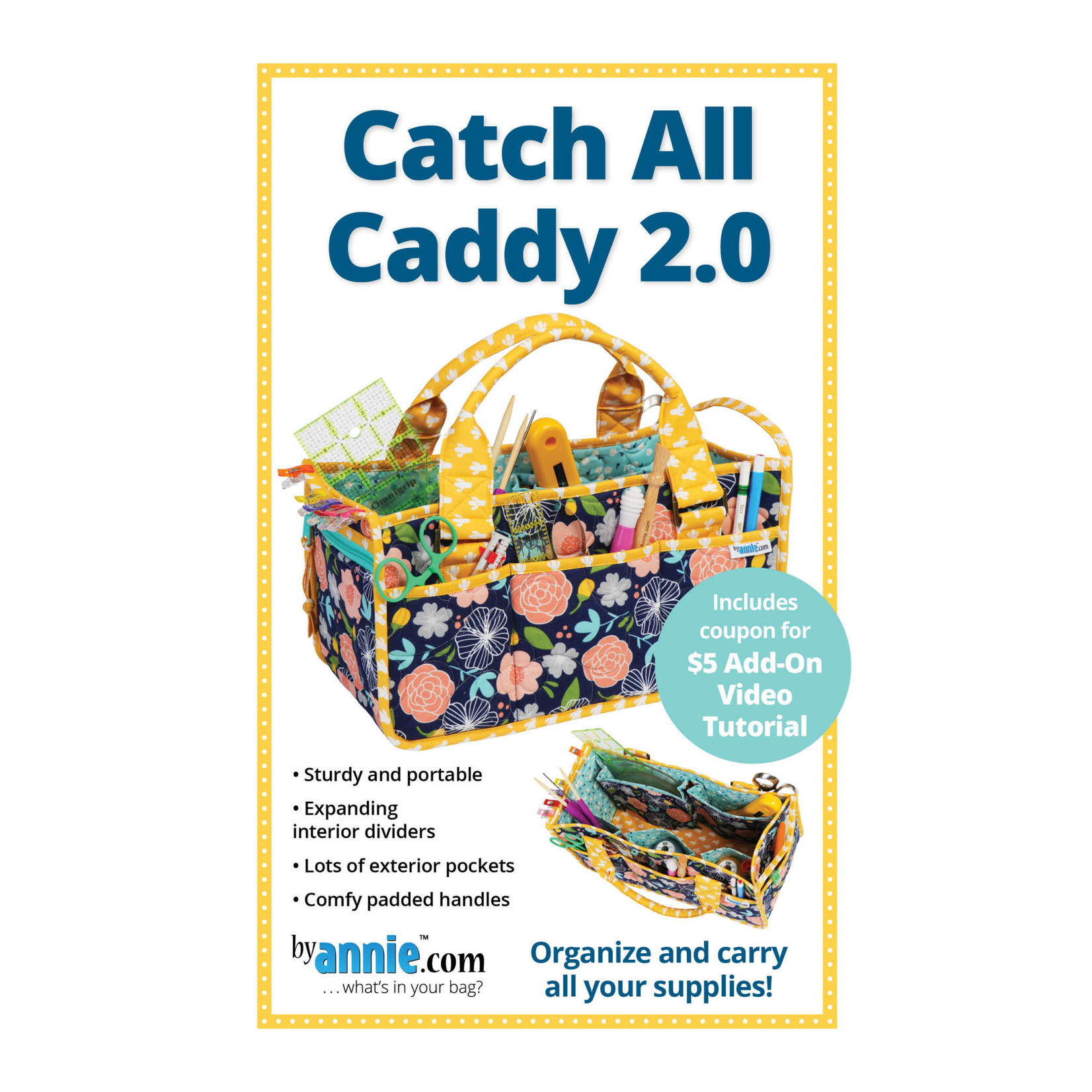 By Annie CATCH-ALL CADDY PATTERN AND KIT