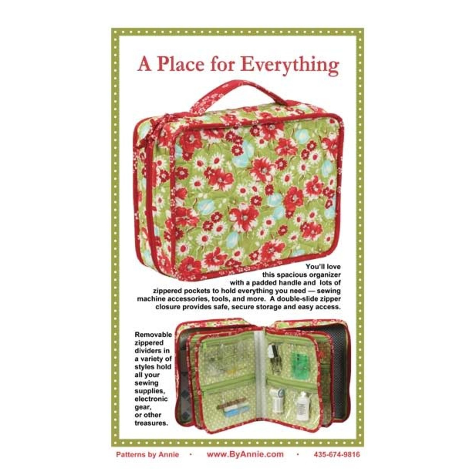 BY ANNIE A PLACE FOR EVERYTHING PATTERN AND KIT