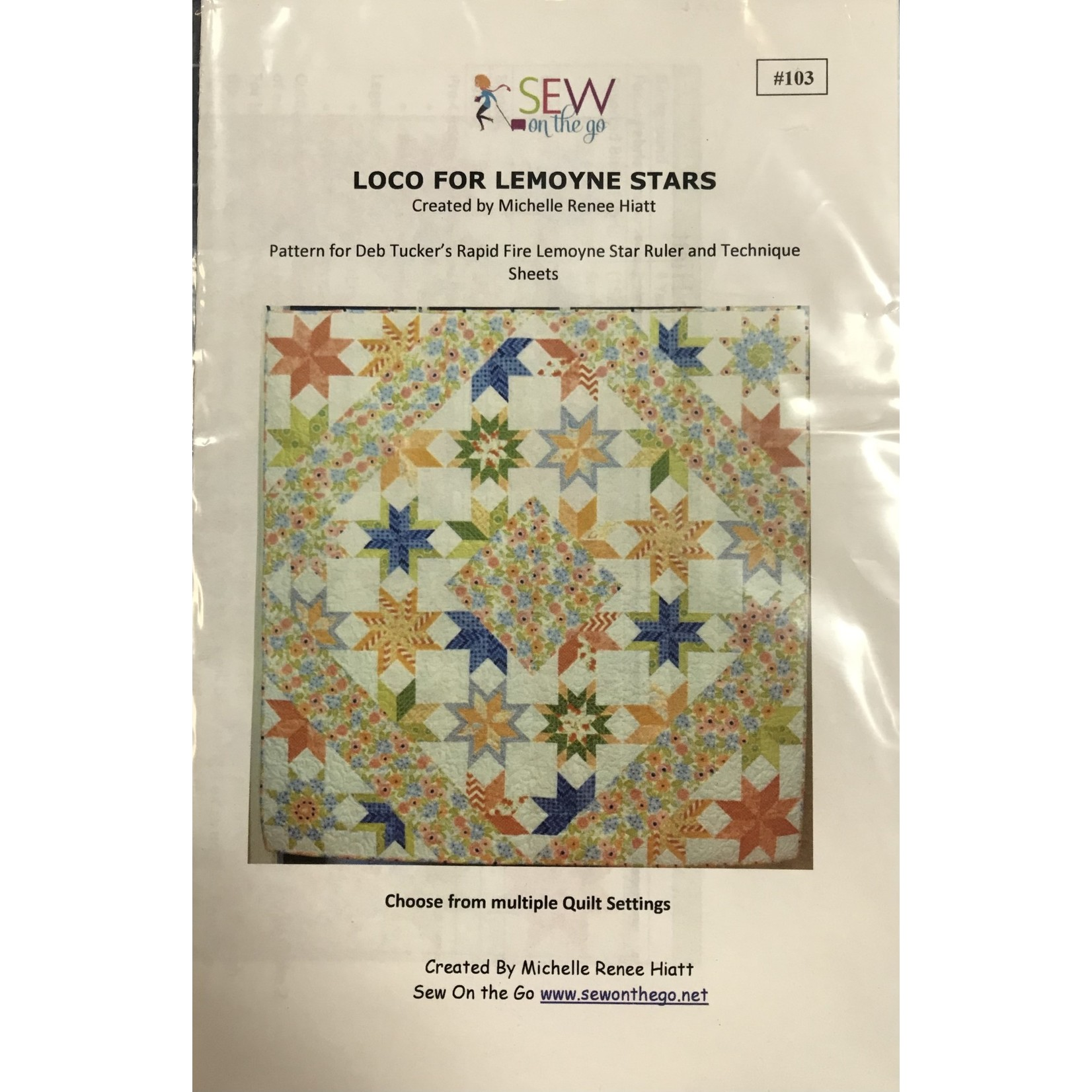 SEW ON THE GO LOCO for LEMOYNE STARS PATTERN