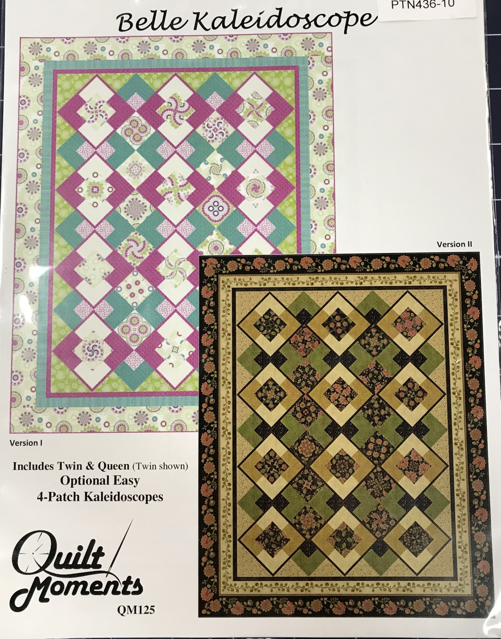 QUILT  MOMENTS BELLE KALEIDOSCOPE PATTERN