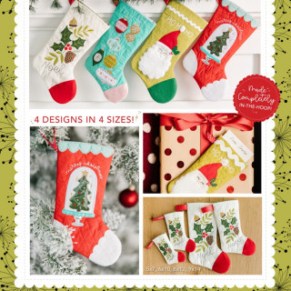 KIMBERBELL DESIGNS Noel's Quilted Stockings