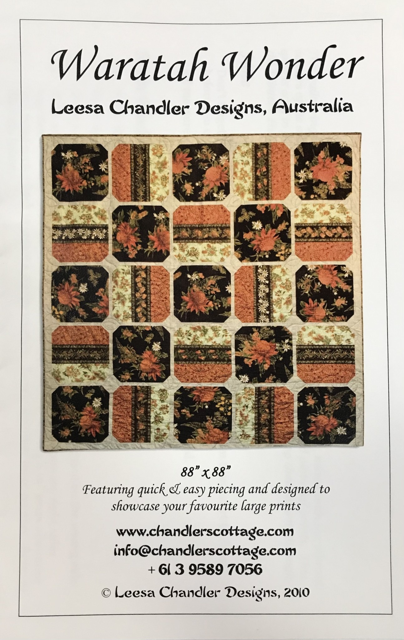 CHANDLER COTTAGE DESIGNS WARATAH WONDER PATTERN