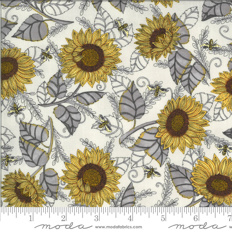 DEB STRAIN BEE GRATEFUL, SUNFLOWER STUDIES,  PEBBLE GREY (19962 13) PER CM OR $21/M