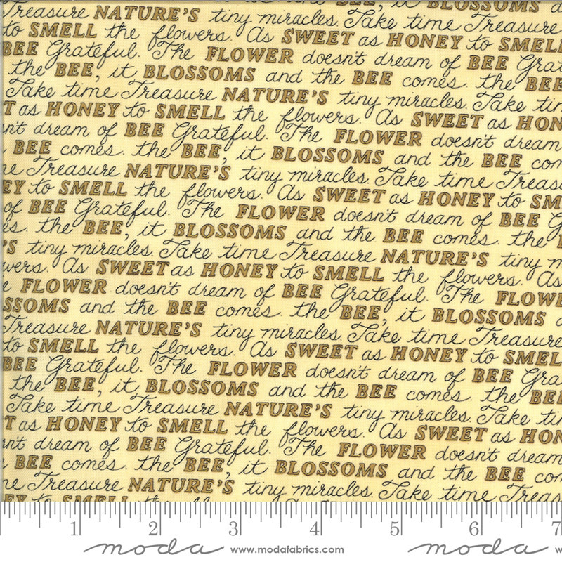 DEB STRAIN BEE GRATEFUL, SWEET WORDS, HONEY YELLOW (19963 12) PER CM OR $21/M