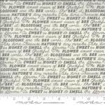 Deb Strain BEE GRATEFUL, SWEET WORDS, DOVE GREY (19963 14) PER CM OR $21/M