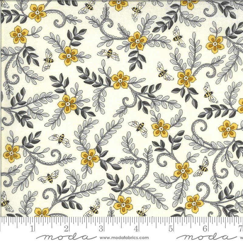 DEB STRAIN BEE GRATEFUL, FLOWER VINES AND BEES , PARCHMENT (19964 11) PER CM OR $21/M
