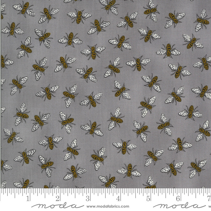 DEB STRAIN BEE GRATEFUL,BUZZ,  PEBBLE GREY (19965 15) PER CM OR $21/M