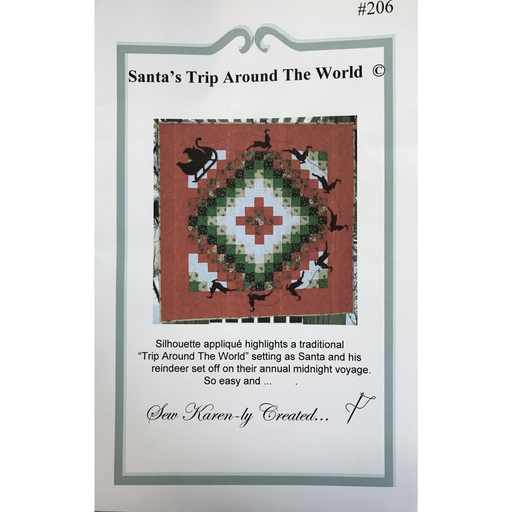 KAREN A. NEARY SANTA'S TRIP AROUND THE WORLD PATTERN