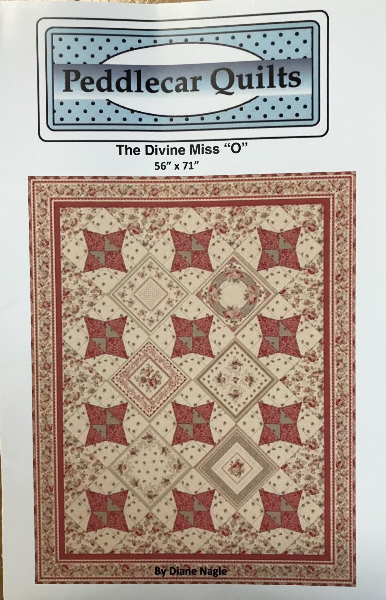 "PEDDLE CAR QUILTS DIVINE MISS ""O"" PATTERN"
