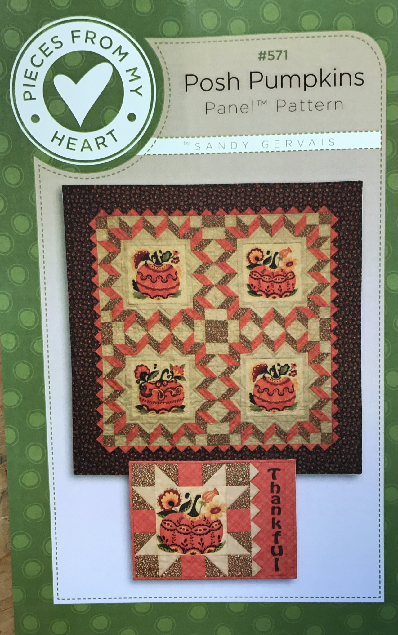 PIECES FROM MY HEART POSH PUMPKINS PANEL PATTERN