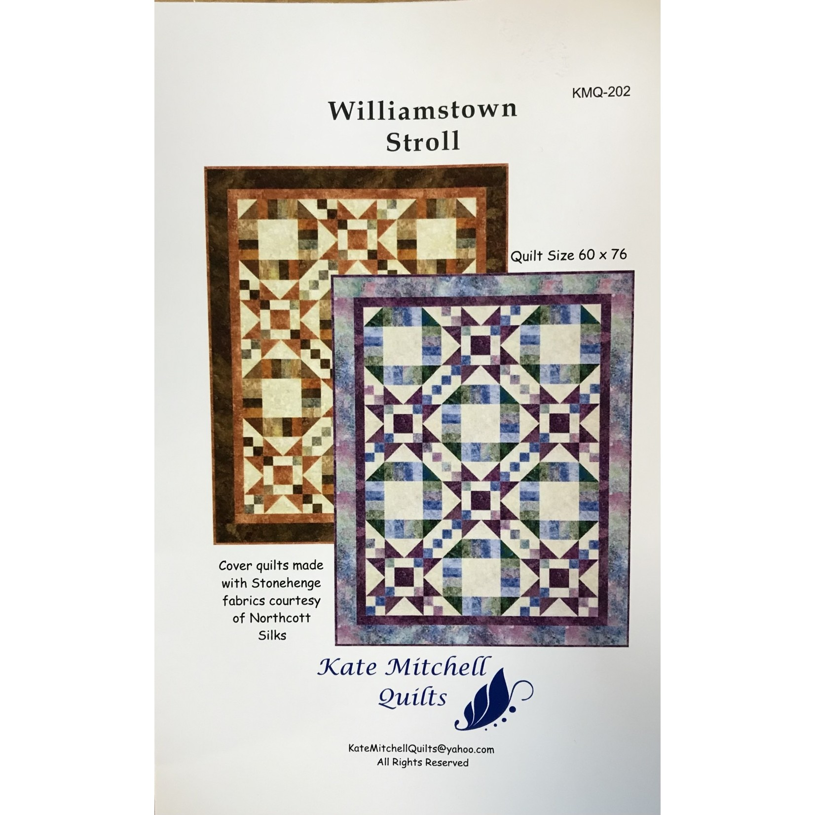 KATE MITCHELL QUILTS WILLIAMSTOWN STROLL PATTERN
