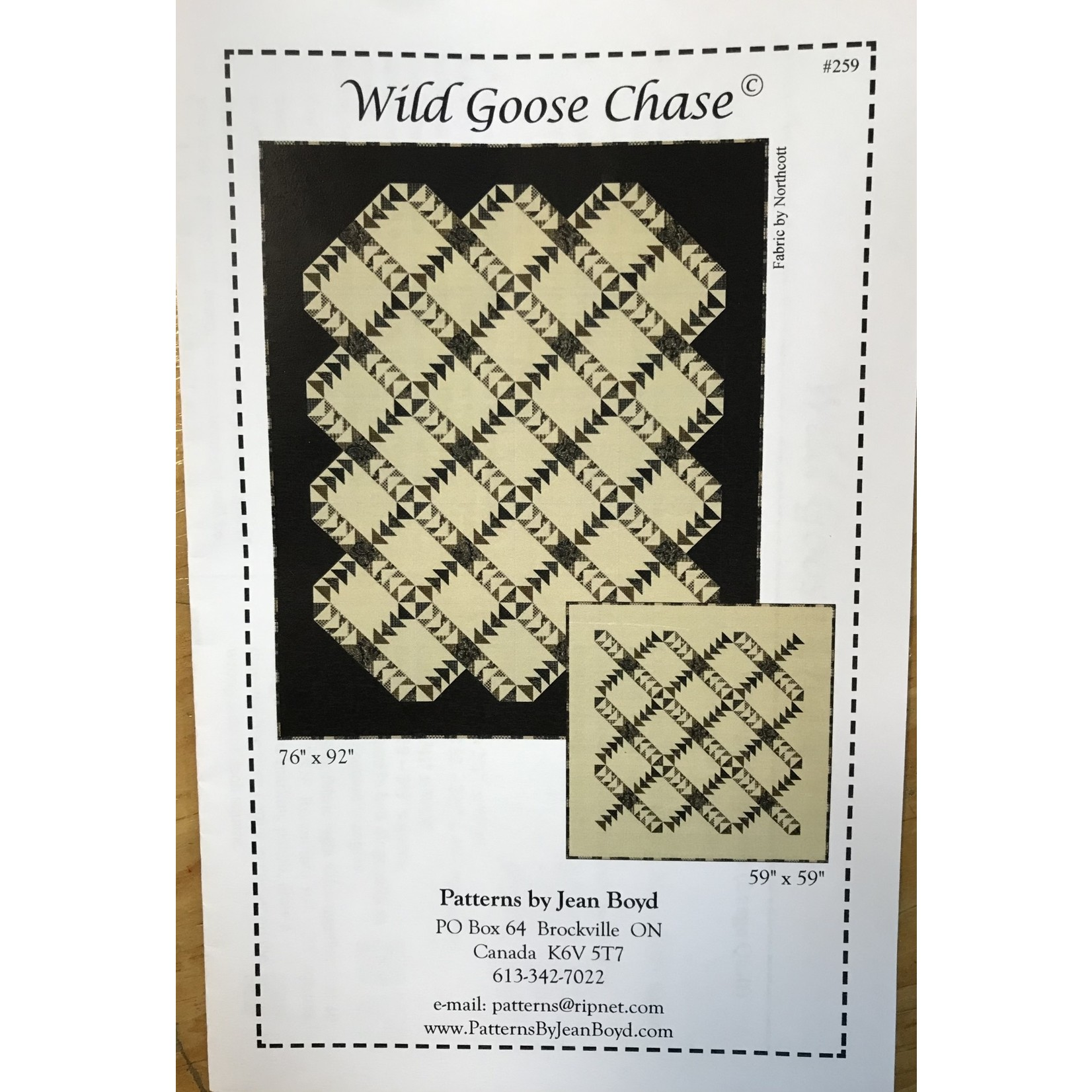 JEAN BOYD WILD GOOSE CHASE PATTERN