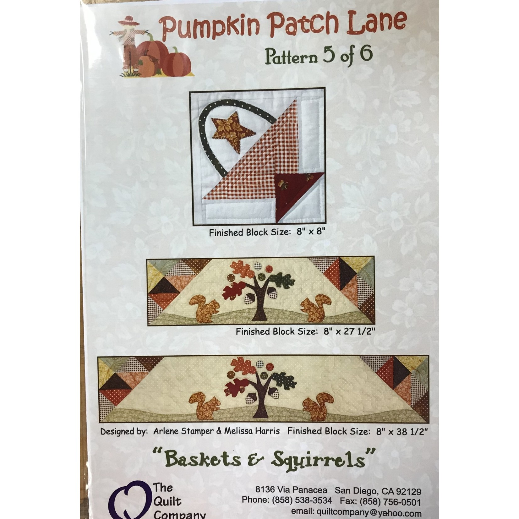 The Quilt Co PUMPKIN PATCH LANE PATTERN