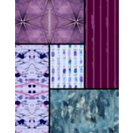 Andover PRISM - COOL PALETTE FAT 1/4 BUNDLE - 5 PCS