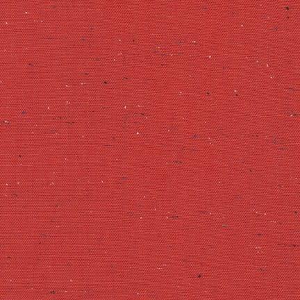 ROBERT KAUFMAN ESSEX YARN DYED SPECKLE, RED (LINEN/COTTON) PER CM OR $24 PER M