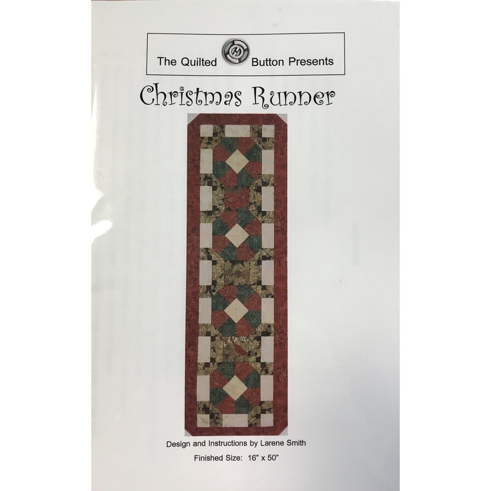 THE QUILTED BUUTON CHRISTMAS RUNNER PATTERN