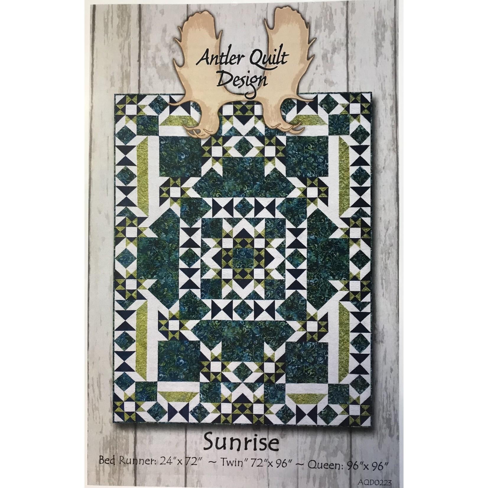 Antler Quilt Design SUNRISE PATTERN