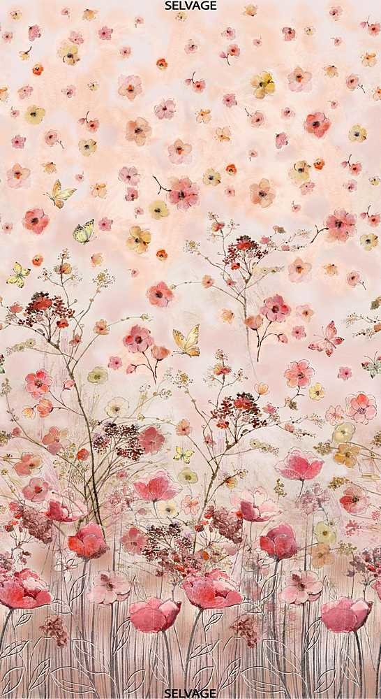 TIMELESS TREASURES FLORAL STUDY,  PINK (CD7189) PER CM OR $18/M