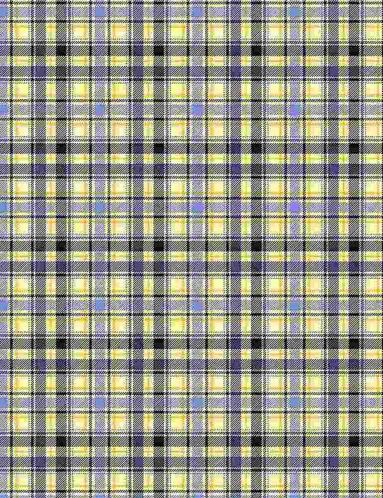 TIMELESS TREASURES I LOVE YOU TO THE MOON AND BACK, YELLOW & BLUE PLAID, YELLOW PER CM OR $20/M
