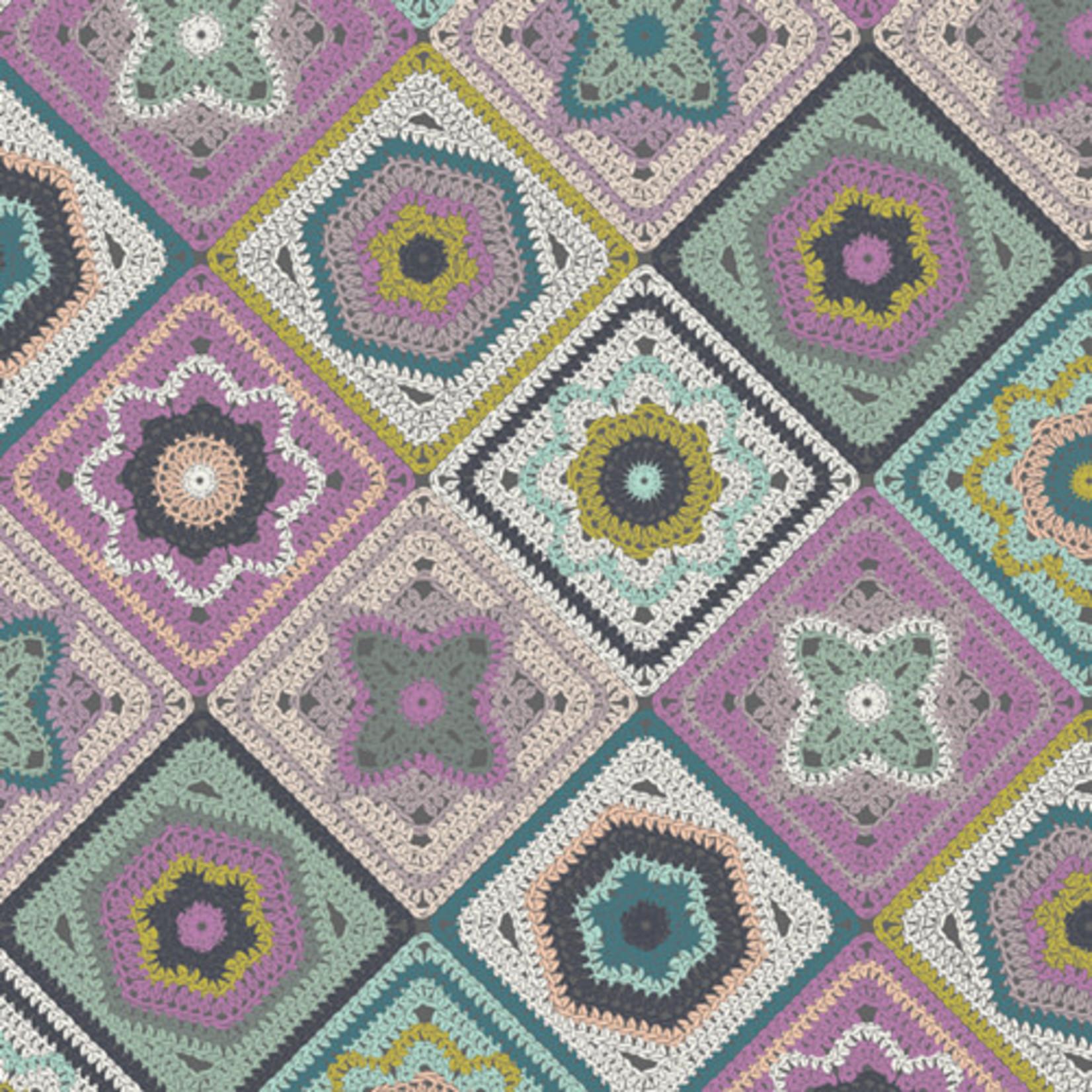 Art Gallery Hooked by Mister Domestic, Crochet Sampler (22650) per cm or $20/m