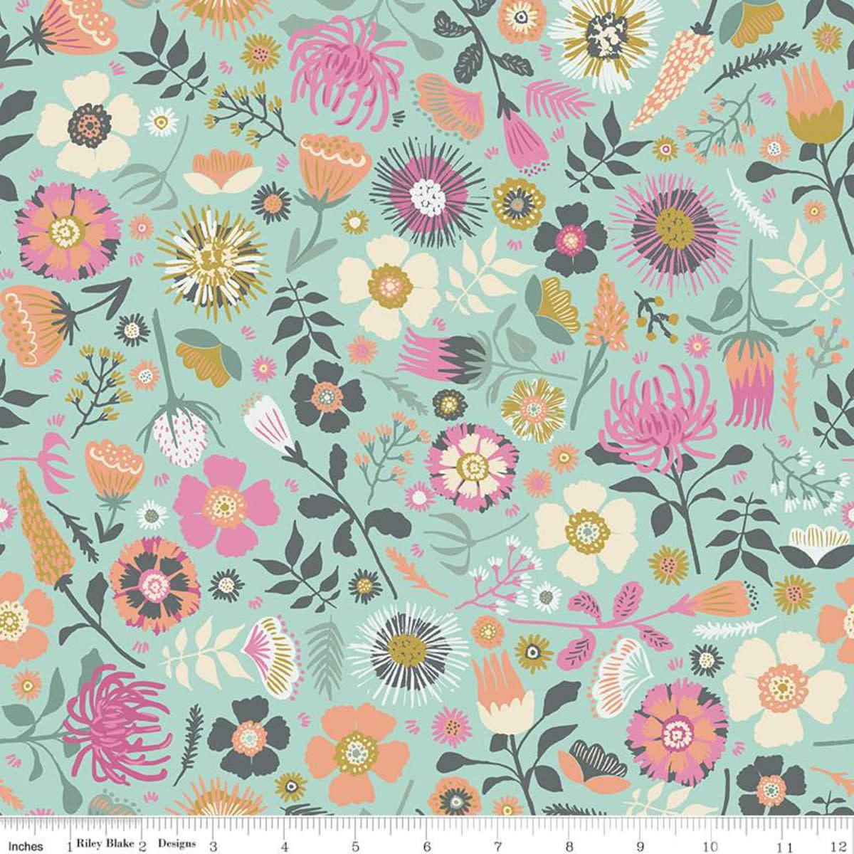 RILEY BLAKE DESIGNS MEADOW LANE, MAIN, MINT C10120 PER CM OR $20/M