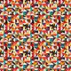 MAKOWER Folk Friends, Mosaic, Cream (2301-Q) per cm or $20/m