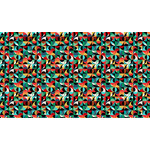 Makower Folk Friends, Mosaic, Black (2301-X) per cm or $20/m