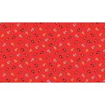 Makower Folk Friends, Sprig, Red (2304-R) per cm or $20/m