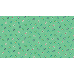 Makower Folk Friends, Sprig, Turquoise (2304-T) per cm or $20/m