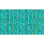 Makower Folk Friends, Stripe, Turquoise (2306-T) per cm or $20/m