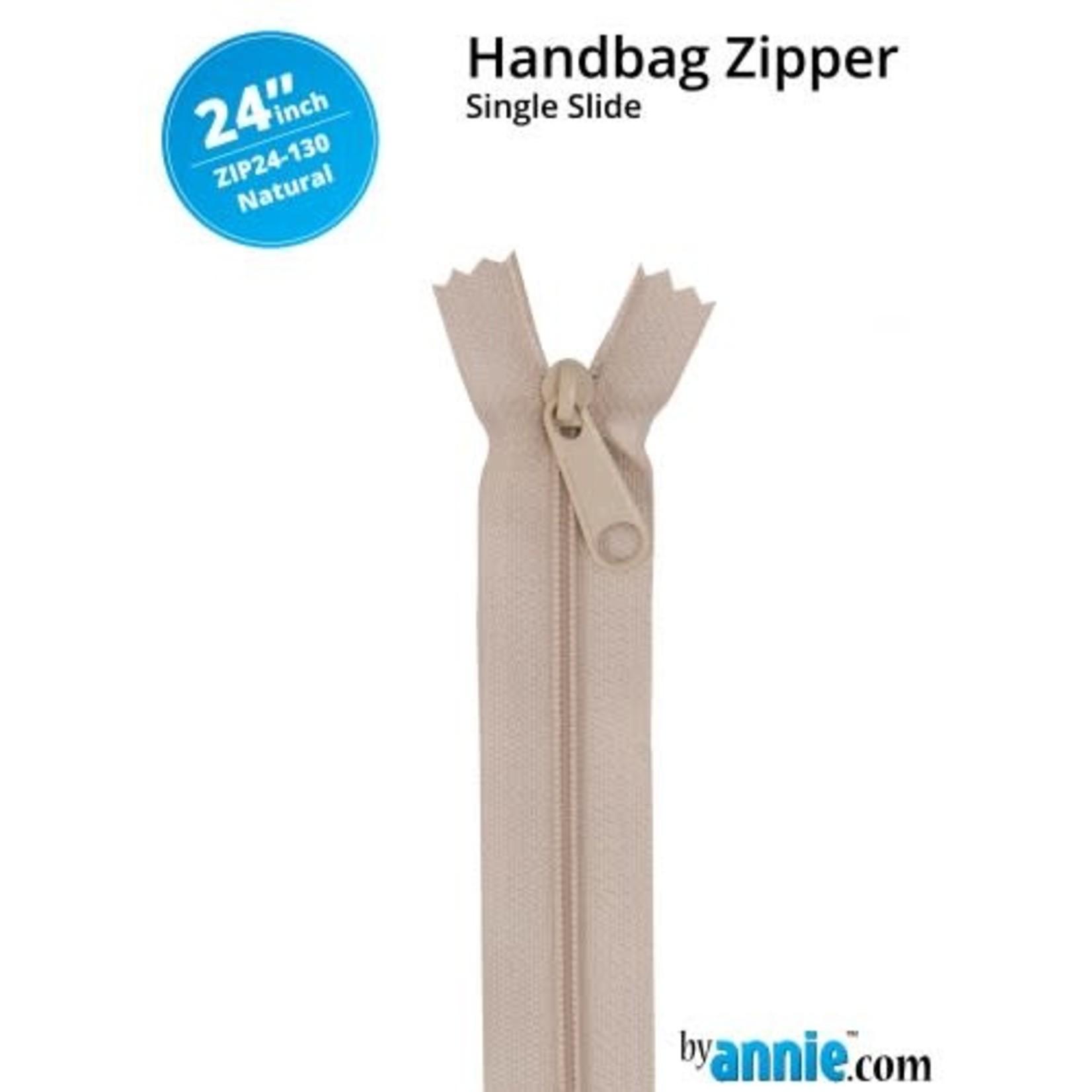 "By Annie Handbag Zipper 24"" Neutrals"