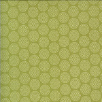 Sweetwater Animal Crackers, Circles, Pickle Green (Brushed Cotton) per cm or $20/m