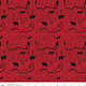 RILEY BLAKE DESIGNS WILD AT HEART, MAP, RED C9822 PER CM OR $20/M