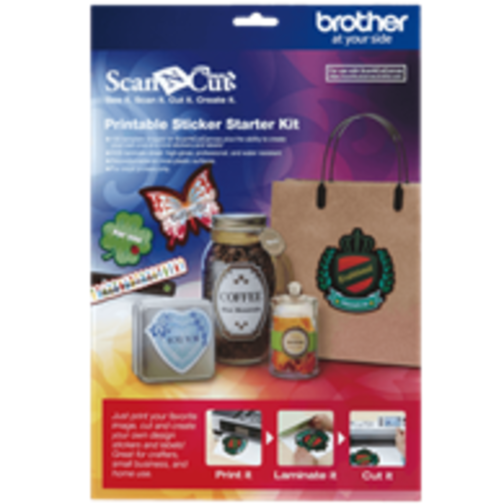 Brother BROTHER PRINTABLE STICKER STARTER KIT SCAN N CUT