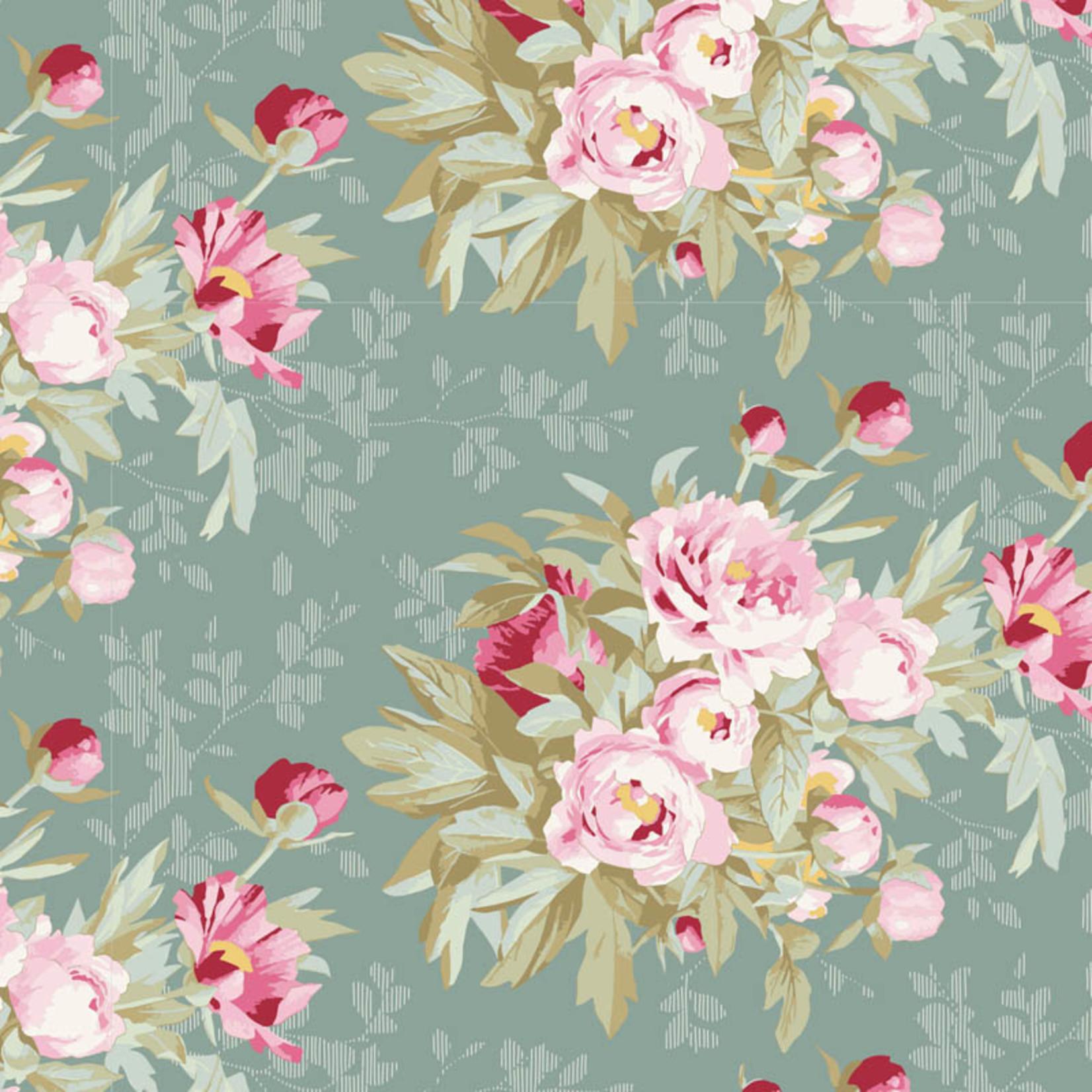 Tilda Woodland, Hazel Large Flora, Sage 100300 per cm or $20/m