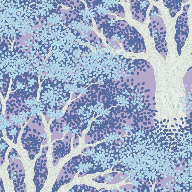 tilda Woodland, Juniper, Blue 100283 per cm or $20/m